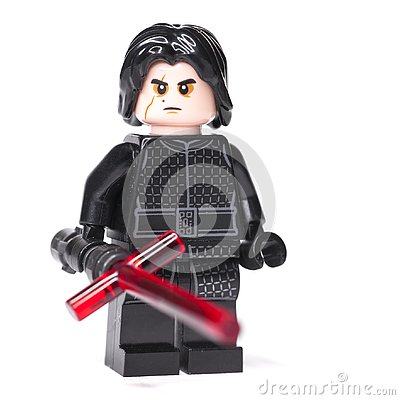 Free RUSSIAN, JANUARY 15, 2019. LEGO STAR WARS. Kylo Ren Mini-figures Of Lego Star Wars Saga Stock Image - 136824231