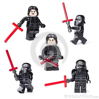 Free RUSSIAN, JANUARY 15, 2019 LEGO STAR WARS. Kylo Ren Mini-figures Of Lego Star Wars Saga Stock Photography - 136824282