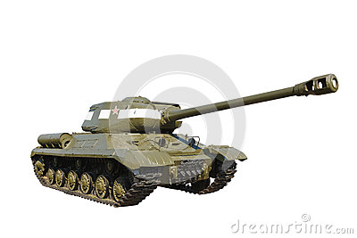 Russian light tank IS-2 isolated