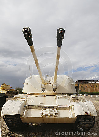 Free Russian Made ZSU-57x2 Self Propelled Anti-aircraft Vehicle Captured By IDF In Sinai On Display At Armored Corps Museum Royalty Free Stock Photo - 48367485