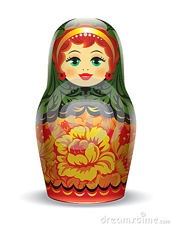 Russian matrioshka. Illustration.