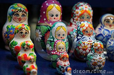 Russian Matrioshka nesting dolls
