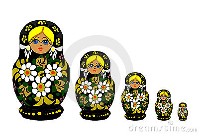 Russian Matrioska - Vector