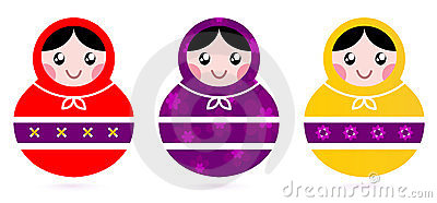 Russian Matryoshka Dolls collection