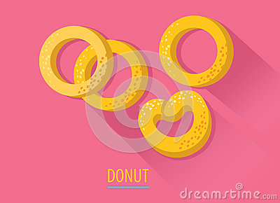 Russian national donut icon in flat style. country symbol Vector Illustration