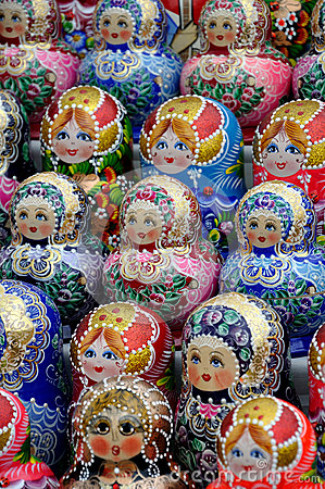 Russian national souvenir - Matryoshka Editorial Stock Image