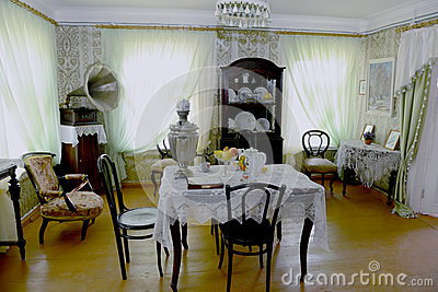 Russian old house interior Editorial Photography