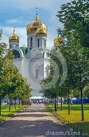 Free Russian Orthodox Church Of Saint Catherine In A Sunny Festive Day Stock Photography - 100234582