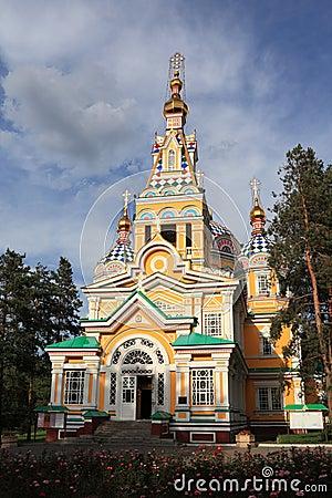 Russian orthodox church in Panfilov Park