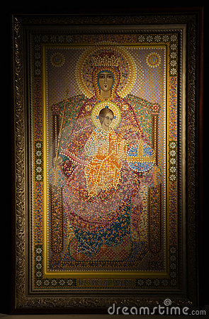 Russian orthodoxy icon over black