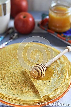 Russian pancakes (Blinis)
