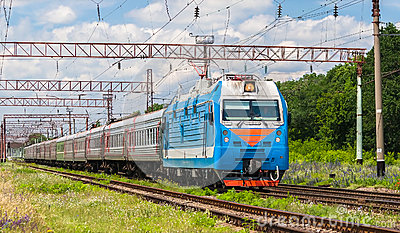 Russian passenger train