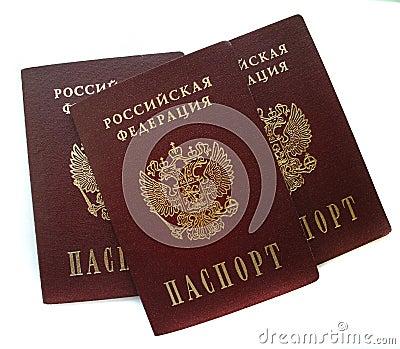 Russian passports isolated