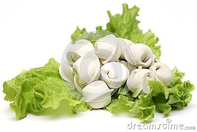 RUSSIAN PELMENI.MEAT DUMPLINGS salad
