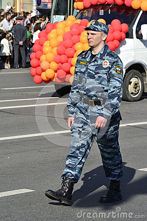Russian police officers Editorial Stock Image