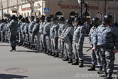 Russian police, special squad (OMON) Editorial Stock Image