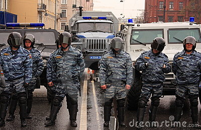 RUSSIAN POLICE, SPECIAL SQUAD (OMON) Editorial Photo