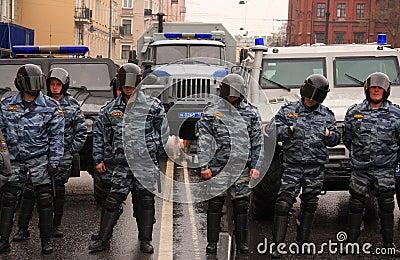 RUSSIAN POLICE, SPECIAL SQUAD (OMON) Editorial Photo