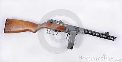 Russian PPsH 1941 machine gun