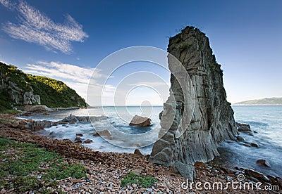 Russian, Primorye, beautiful sea rock