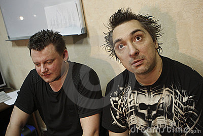 Russian punk band Korol i Shut Editorial Stock Image