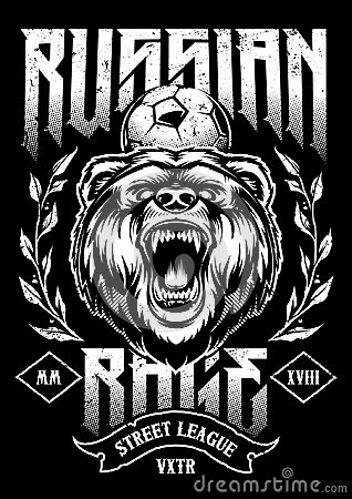 Russian Rage Vector Art Vector Illustration