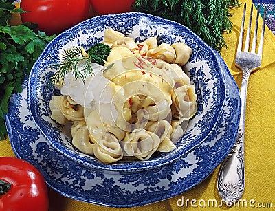 Russian ravioli or pelmeni