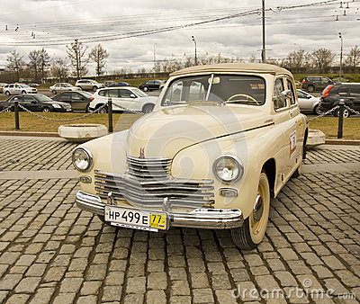 Russian retro car Editorial Stock Image