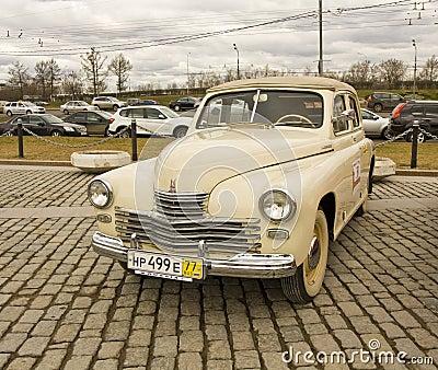 Russian retro car Editorial Stock Image
