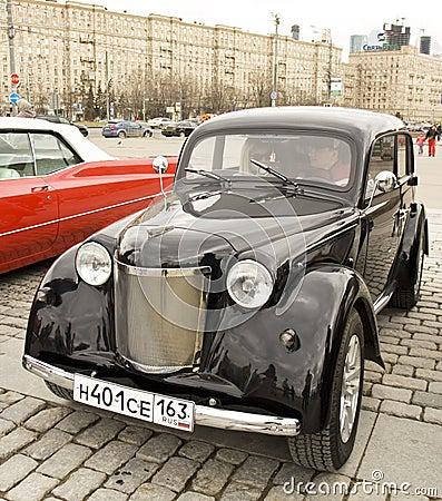 Russian retro car Moskvich Editorial Image