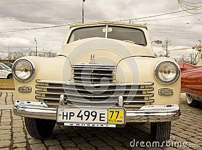 Russian retro car Pobeda (Victory) Editorial Image