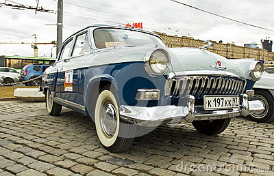 Russian retro car Volga Editorial Stock Image