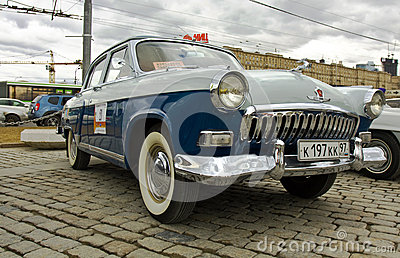 Russian retro car Volga Editorial Photography