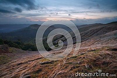 Russian Ridge at Sunset