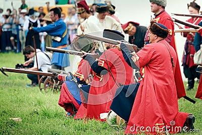 Russian Riflemen Editorial Photography