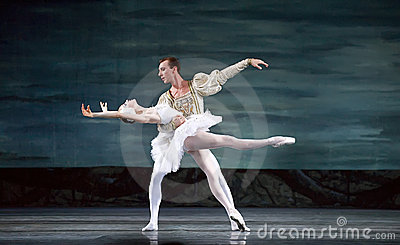 Russian royal ballet perfome swan ballet Editorial Photography
