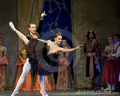 Russian royal ballet perform Swan Lake Editorial Image