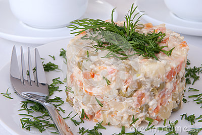 Russian Salad Royalty Free Stock Images - Image: 28806989