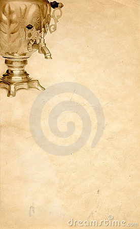 Russian samovar background