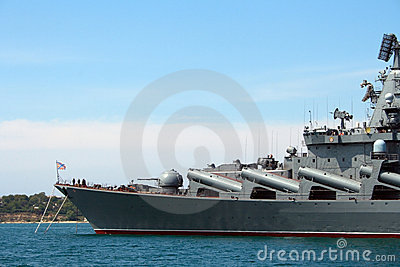 Russian ship in Sevastopol