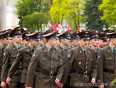 Russian soldiers Editorial Stock Image