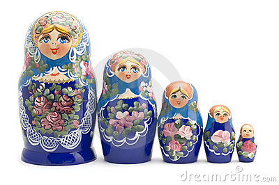 Russian souvenir close up