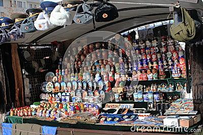 Russian souvenir shop Editorial Photography