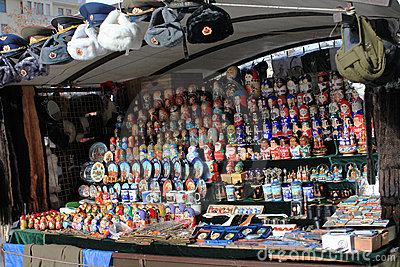 Russian souvenir shop