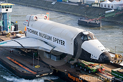 Russian space-shuttle Editorial Stock Photo