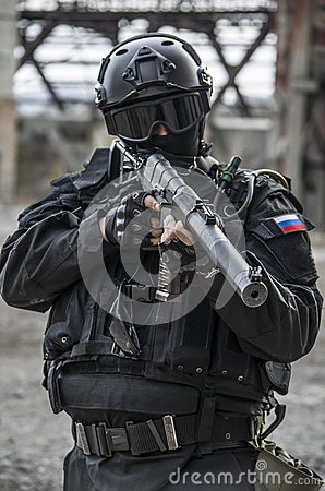 Free Russian Special Forces Training At A Military Training Ground. Royalty Free Stock Image - 82168706