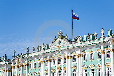 Russian state flag on Winter Palace