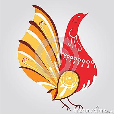 Russian style bird print