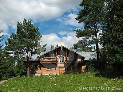 Russian style. Wooden house