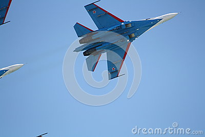 Russian supersonic fighter Su-27 Editorial Stock Image